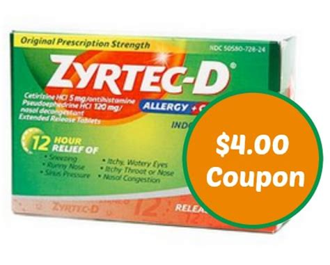 printable zyrtec coupon zyrtec coupon save 4 00 cvs deal ftm