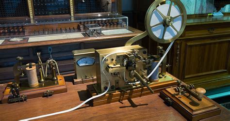 technology in the home of the future telegraph morse demonstrates telegraph machine