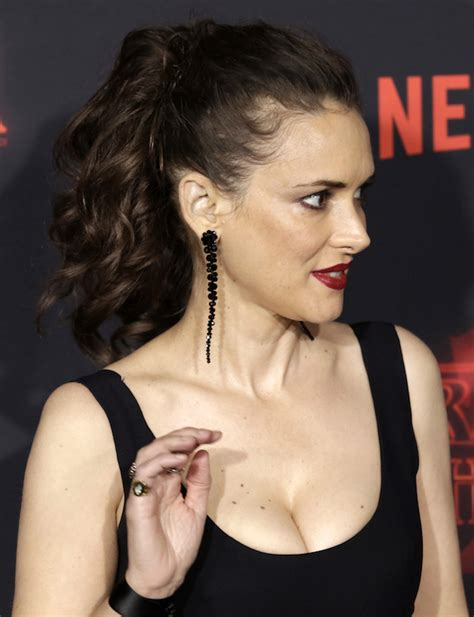 Winona Is Back And So Is Cleavage by Dlisted Netflix S Things 2 Premiere