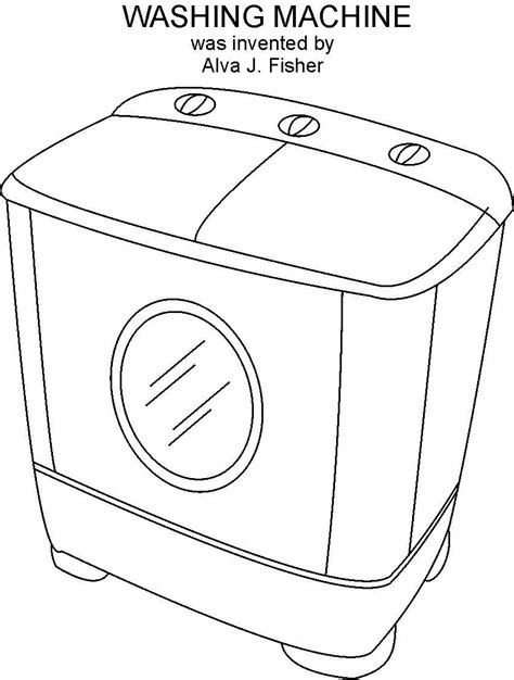 washing coloring sheets free coloring pages of washing machine