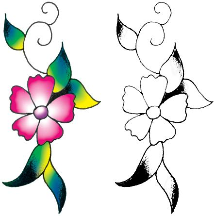 simple flower design