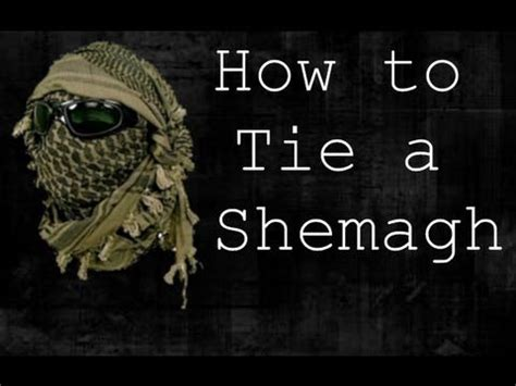how to tie a shemagh style gear