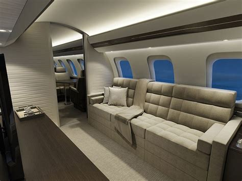 Storage Room Design - bombardier global 7000 luxury jet