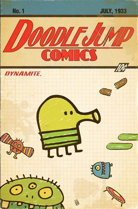 doodle jump maker dynamite and lima sky bring doodle jump to comics