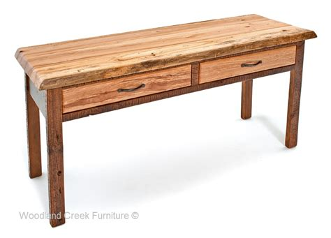 Wood Sofa Table Live Edge Barn Wood Sofa Table Reclaimed Coffee