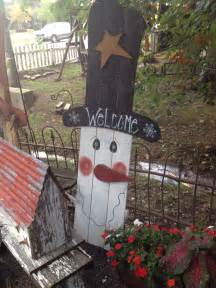 Primitive snowman fall pinterest