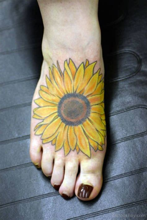sunflower foot tattoo sunflower tattoos designs pictures