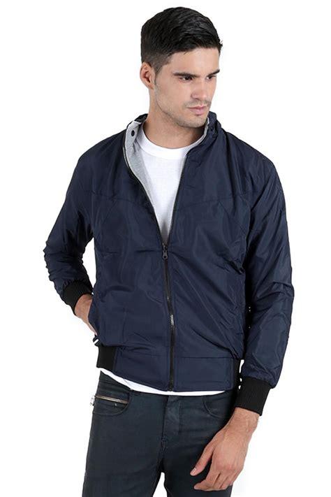 Jaket Pria Biru Dongker jual elfs shop reverseable parasut fleece jaket hoodie
