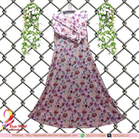 Kulot Katun Motif Bunga Pink gamis misbee pink motif bunga rp 110 000 baju