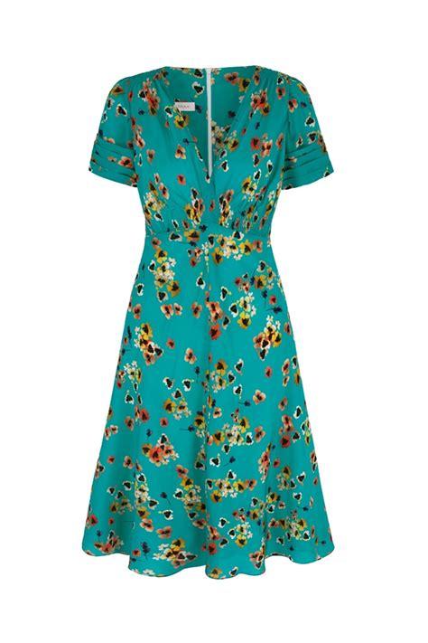ocean silk 30s vintage print tea dress pansy print tea