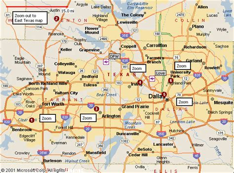 map of dallas texas map of dallas fort worth travelsmaps map fort worth and forts