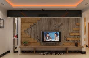 pastoral style living room wooden tv wall 3d house free