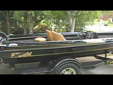 bass boat in storm walkaround 1989 storm bass boat youtube