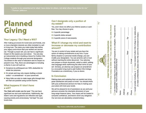 planned giving brochures templates 8 planned giving brochures templates parts in