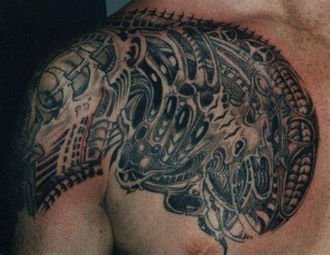 biomechanical chest tattoo designs biomechanical chest tattoo ideas and biomechanical chest