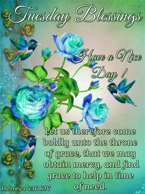 nice day tuesday blessing floral quote pictures