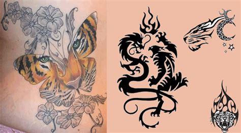 imagenes de leones y dragones combinaciones populares para tatuajes de tigres