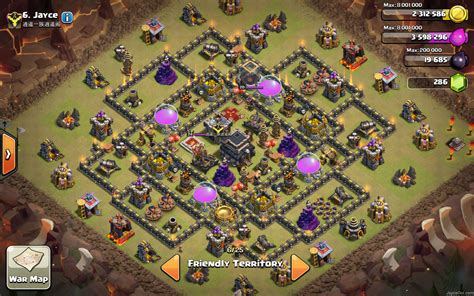 top base war th 9 coc 2015 all lava walls at clash of clans town hall 9 jayceooi com