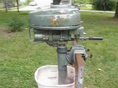 old elgin boat motor vintage 1951 elgin 5hp outboard for sale youtube