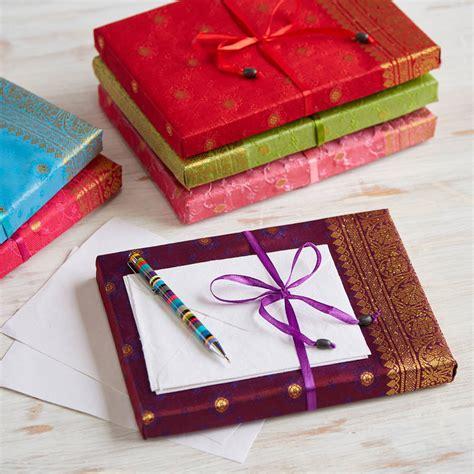 Handmade Stationery Paper - handmade sari stationery set by paper high