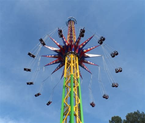 six flags swing ride guest review of skyscreamer at six flags over georgia