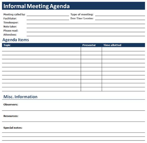sample meeting minute templates agendas pinterest template