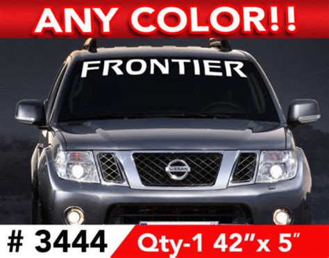 Tshirt Kaos Design Nissan Frontier product nissan frontier windshield decal sticker 42 quot w x 5 quot h