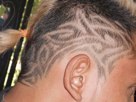 hair cutting tattoo designs hair design hair design