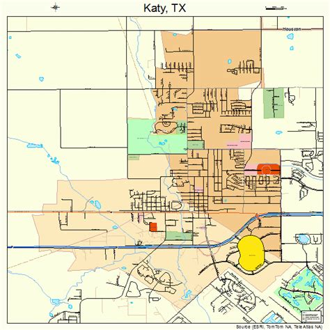 where is katy texas in the map katy texas map 4838476