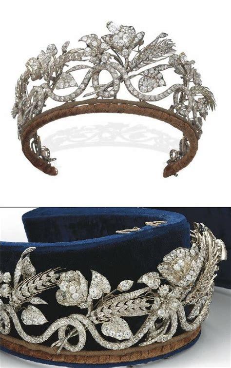 Sho Kuda Vienna Blue an antique tiara mid 19th century designed as a