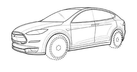 Tesla Model X Sketches by A Few Patents For The Tesla Model X Falcon Wing Doors