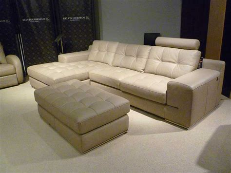 Fiore Sofa Sectional Leather Beige Sectionals Beige Leather Sectional Sofa
