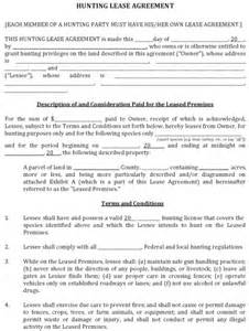 download hunting land lease agreement fillable pdf