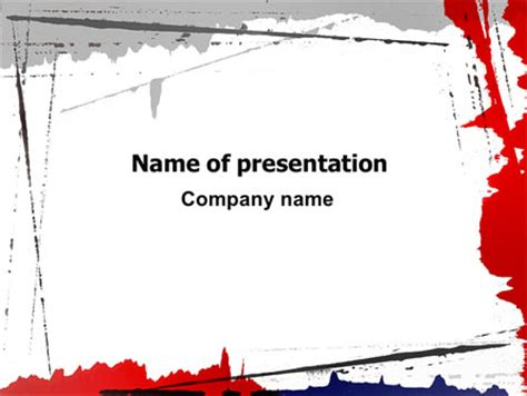 powerpoint themes free download blood blood splatter theme presentation template for powerpoint