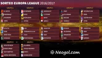 Calendario Europa League Calendario Europa League 2016 2017 Fixture Completo