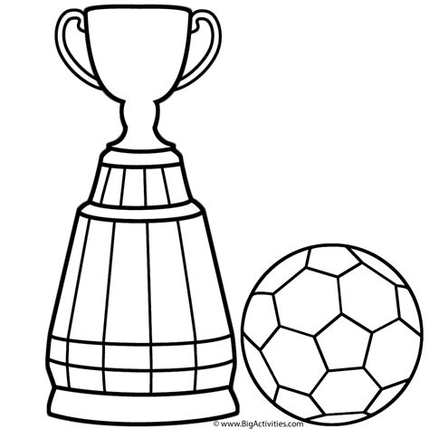 World Cup Trophy With Soccer Ball Coloring Page World Cup World Cup Coloring Pages