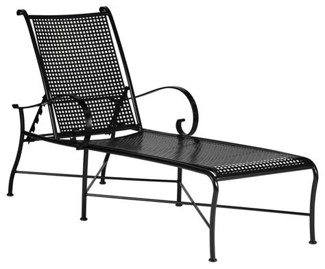 Black Wrought Iron Patio Chaise Lounge by Verano Wrought Iron Chaise Lounge Outdoor Chaise Lounges