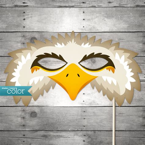free printable vulture mask diy printable eagle mask mardi gras birthdays masquerade