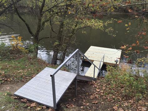 boat dock steel cable boat dock steel stair construction kentucky river