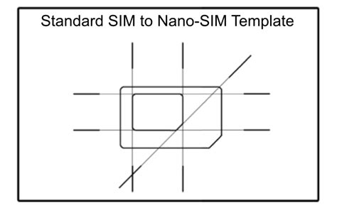 Nano Sim Template scio sphere diy nano sim to regular size sim adapter