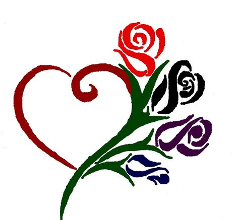 heart rose tattoos and search could be a