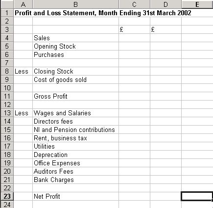 10 Profit And Loss Templates Excel Templates Business Plan Profit And Loss Template