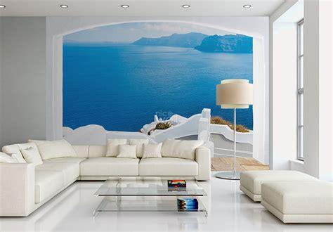 Wall Murals Greece Santorini Greece Coast Wallpaper Mural