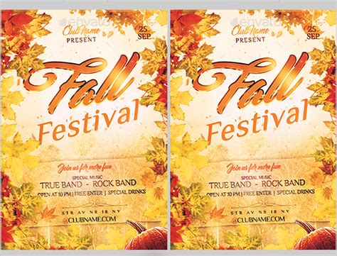 fall festival flyer template 25 festival flyer free psd ai vector eps format