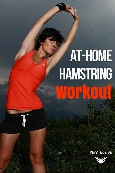 at home hamstring workout diy active