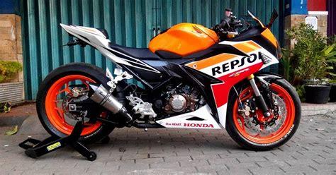 Stripingstickerlis Motor Cb 150r 2016 2 modifikasi all new honda cbr150r repsol kaki gambot plus dijamin kepengen