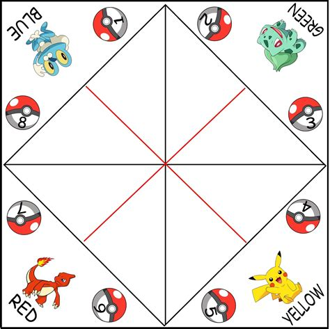 Template For Fortune Teller Card by Blank Cootie Catchers Aka Paper Fortune Tellers