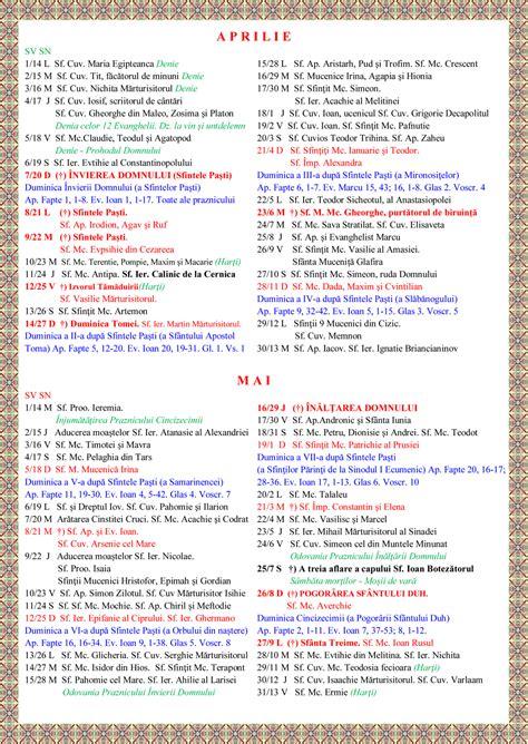 Calendar Ortodox 2015 Calendar Ortodox Stil Vechi 2016 Calendar Template 2016