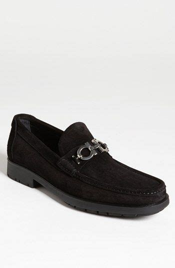 ferragamo master loafer black suede loafers and black on