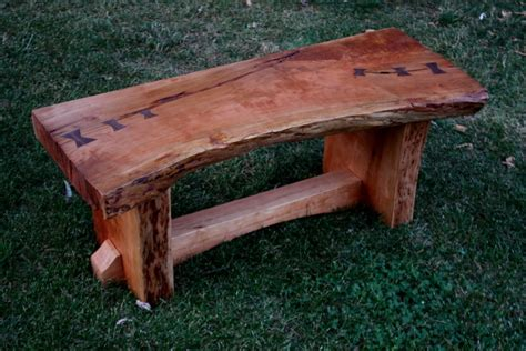 wood slab bench with back cherry live edge slab bench by pacewoodworking